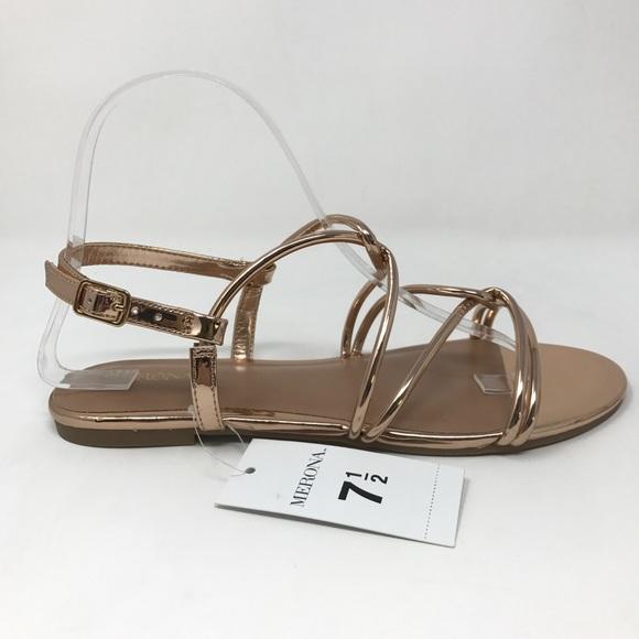 3b680befc8351b Merona Marcie Rose Gold Sandals Sz 7.5 NEW